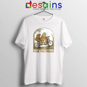 Cheap Tee Shirt Frog And Toad Fuck The Police Tshirt Funny Police