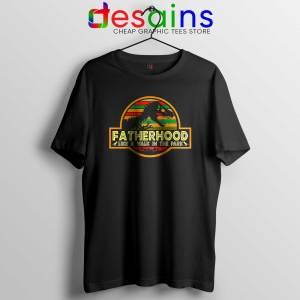 Cheap Tshirt Black Fatherhood Like A Walk In The Park Retro Vintage T-Rex