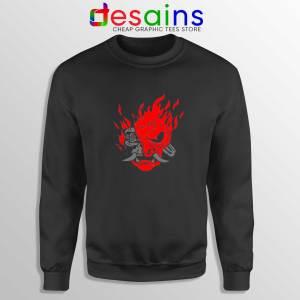 Samurai Demon Slim Sweatshirt Cyberpunk 2077 Sweater Size S-3XL