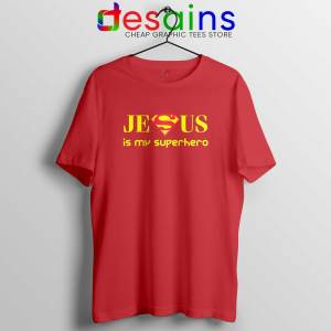 Superman Jesus Is My Superhero Tee Shirt Christmas Day Tshirt Size S-3XL