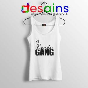 Tank Top White Bardi Gang Merch Cardi B Unofficial Clothing Line Shop