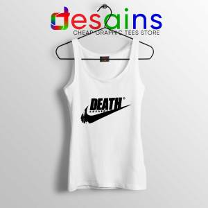 Tank Top White Death Just Do It Japanese Nike Parody Tank Tops Size S-3XL