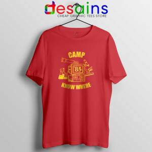 Camp Know Where Red Tee Shirt Stranger Things Tshirts Size S-3XL