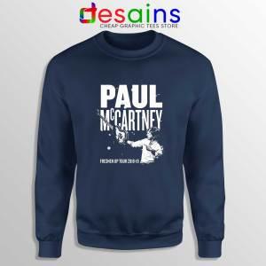 Paul McCartney Freshen Up Navy Sweatshirt Crewneck Sweater Concert