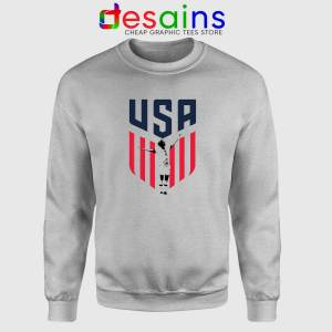 Rapinoe USA Soccer Women Sport Grey Sweatshirt Megan Rapinoe USWNT