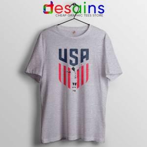 Rapinoe USA Soccer Women Sport Grey Tshirt Best Tee Shirts Megan Rapinoe