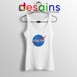 Tank Top White Vegan Nasa Logo Cheap Tank Tops Veganism Shirt