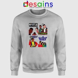 90s Martin Sitcom Mashup Sport Grey Sweatshirt Crewneck Sweater