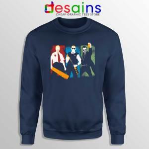 Blood and Ice Cream Navy Sweatshirt Cheap Sweater Three Flavours Cornetto