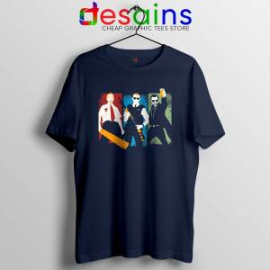 Blood and Ice Cream Navy Tshirt Cheap Three Flavours Cornetto Tee shirts