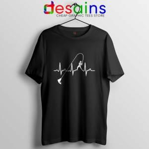 Fishing Heartbeat Tshirt Cheap Fishing Graphic Tees Shirts