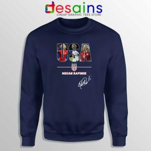 Sweatshirt Navy Megan Rapinoe Signature USA Womens Soccer Team Sweater