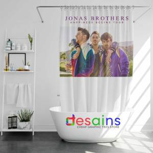 Happiness Begins Tour Shower Curtain Buy Jonas Brothers Curtains