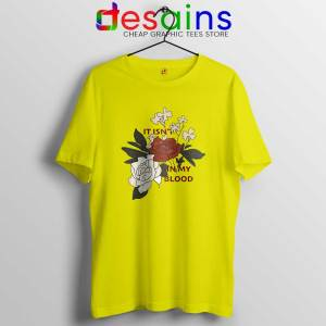 In My Blood Shawn Mendes Yellow Tshirt It Isn't In My Blood Tees Shirts