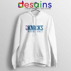 Knicks Basketball Jennifer Aniston White Hoodie Friends Sitcom Hoodies