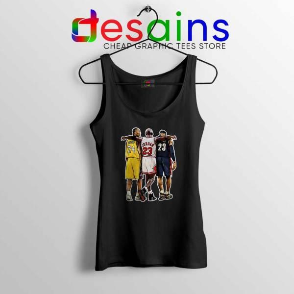 Kobe Bryant x Michael Jordan x Lebron James Black Tank Top NBA Shirt