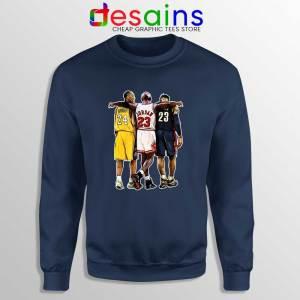 Kobe Bryant x Michael Jordan x Lebron James Navy Sweatshirt NBA