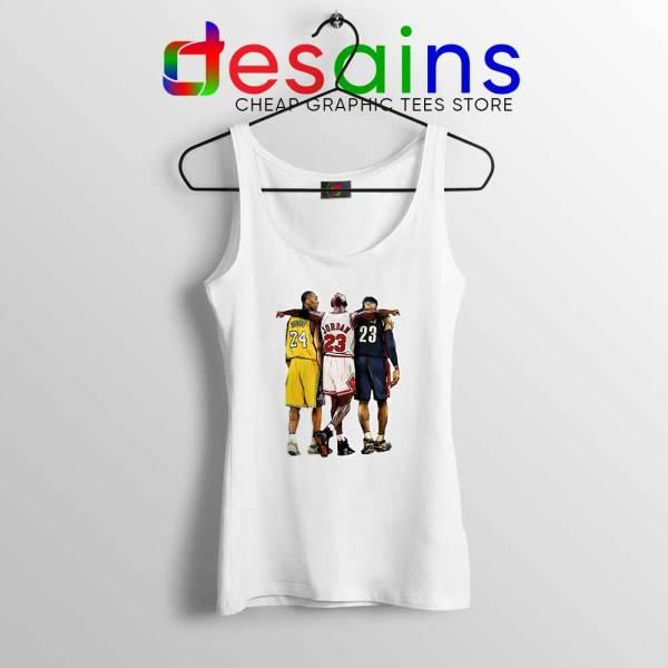 Kobe Bryant x Michael Jordan x Lebron James Tank Top NBA Shirt