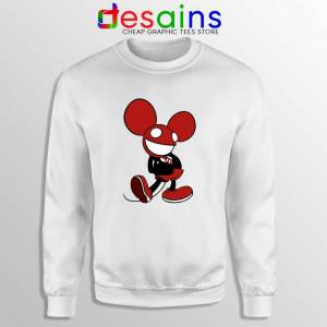 Mickey Mau5 White Sweatshirt Deadmau5 Mickey Mouse Sweater S-2XL