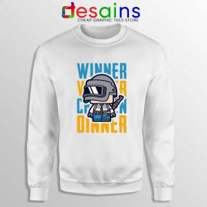 Winner Winner Chicken Dinner White Sweatshirt PUBG Sweater S-2XL