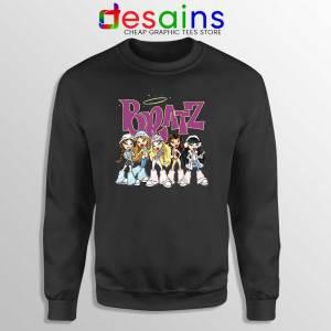 Bratz Angelz Dolls Black Sweatshirt Cartoon Bratz Sweater