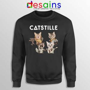 Catstille Band Bastille Cats Black Sweatshirt Funny Bastille Sweater S-3XL