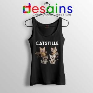 Catstille Band Bastille Cats Black Tank Top Funny Bastille Tank Tops S-3XL