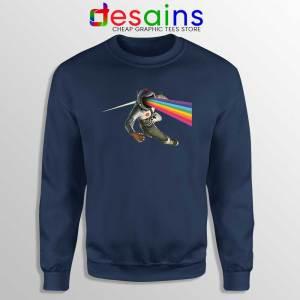 Cosmic Floyd Navy Sweatshirt Pink Floyd Rock Band Sweater S-3XL