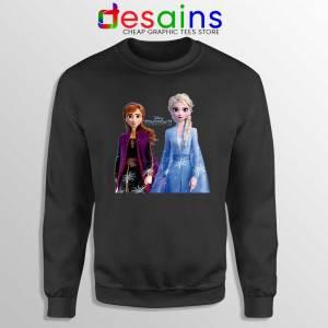 Elsa Anna Frozen 2 Black Sweatshirt Disney Film Merch Sweater S-3XL