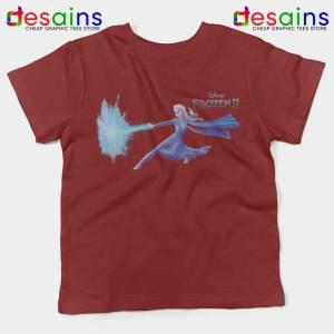 Elsa Frozen 2 Attack Maroon Kids Tshirt Disney Frozen Youth Tee Shirts