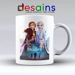 Frozen 2 Poster Art Mug Custom Disney Frozen Film Coffee Mugs