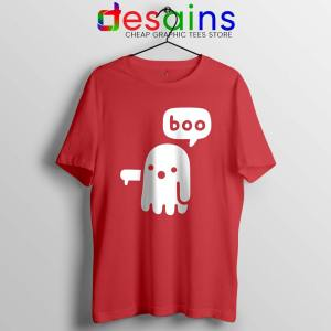 Ghost Boo Red Tshirt Ghost Of Disapproval Tee Shirts Size S-3XL