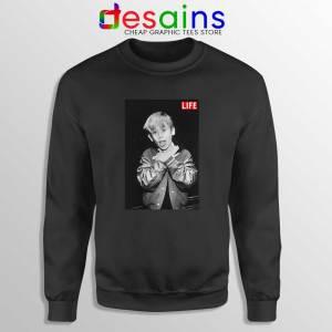Macaulay Culkin Life Black Sweatshirt American Actor Sweater S-3XL