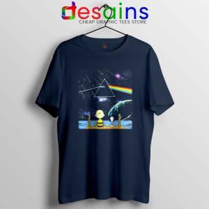 Pink Floyd Snoopy Navy Tshirt Dark Side Of The Moon Tee Shirts