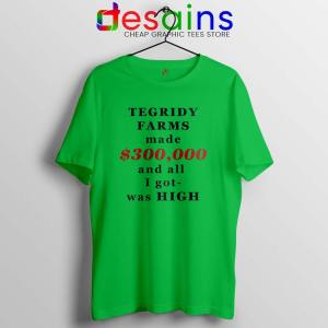 South Park Tegridy Farms Lime Green Tshirt Made $300,000 and all i got was HIGH
