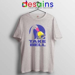 Take Bell Taco Sport Grey Tshirt Taco Bell Tee Shirts GILDAN S-3XL