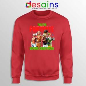 Twas The Fortnite Before Christmas Red Sweatshirt Fortnite Game Sweater