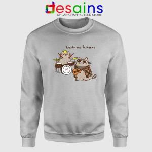 Twenty One Pusheens Sport Grey Sweatshirt Twenty One Pilots Sweater