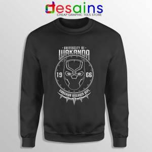 University Of Wakanda Sweatshirt Black Panther Sweater S-3XL