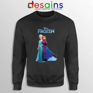 Frozen Anna and Elsa Black Sweatshirt Frozen 2 Film Sweater S-3XL