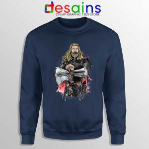 God of Thunder Thor Navy Sweatshirt Avengers Endgame Sweater
