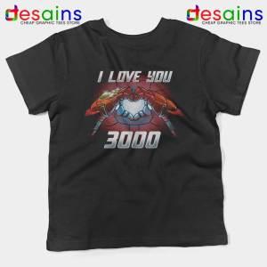 I Love You 3000 Endgame Kids Tshirt Iron Man Youth Tee Shirts