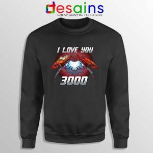 I Love You 3000 Endgame Sweatshirt Iron Man Sweater S-3XL