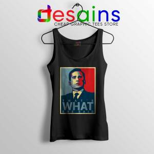 Michael Scott The Office Black Tank Top That's What She Said Tops S-3XL