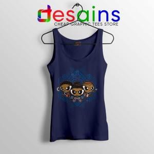 Powerpuff Girls Black Panther Navy Tank Top Pantherpuff Girls Tank Tops
