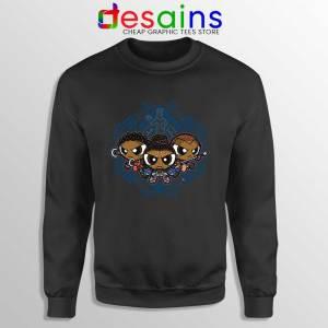 Powerpuff Girls Black Panther Sweatshirt Pantherpuff Girls Sweater S-3XL