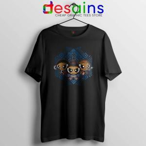 Powerpuff Girls Black Panther Tshirt Pantherpuff Girls Tee Shirts S-3XL