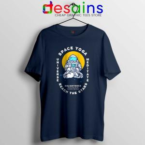 Space Yoga Universe Meditate Navy Tshirt Yoga Lover Tee Shirts