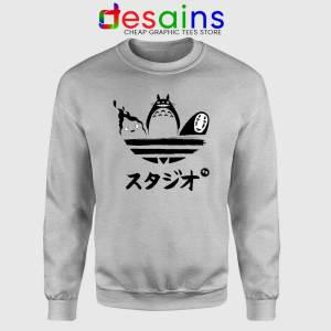 Studio Ghibli Adidas Sport Grey Sweatshirt My Neighbor Totoro Sweater