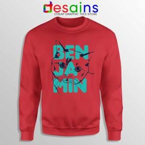 Taylor Swift Cradles Cat Red Sweatshirt Benjamin Button Sweater S-3XL